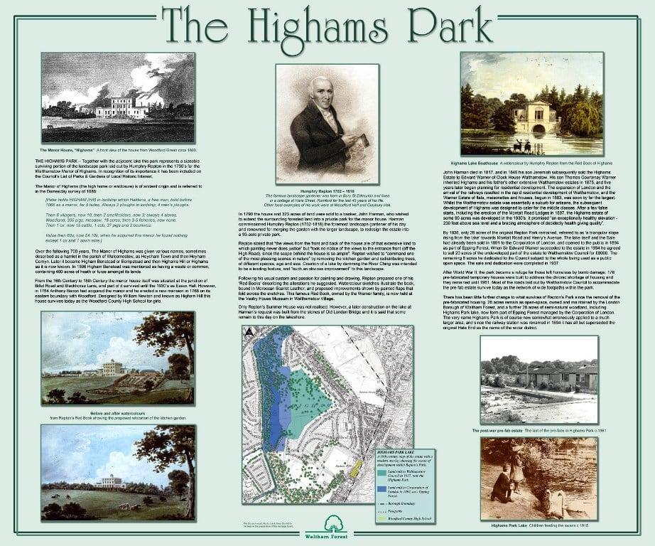 Highams Park History Board