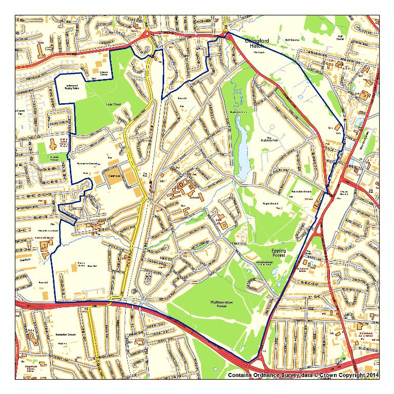 Highams Park Neighbourhood Plan Boundary