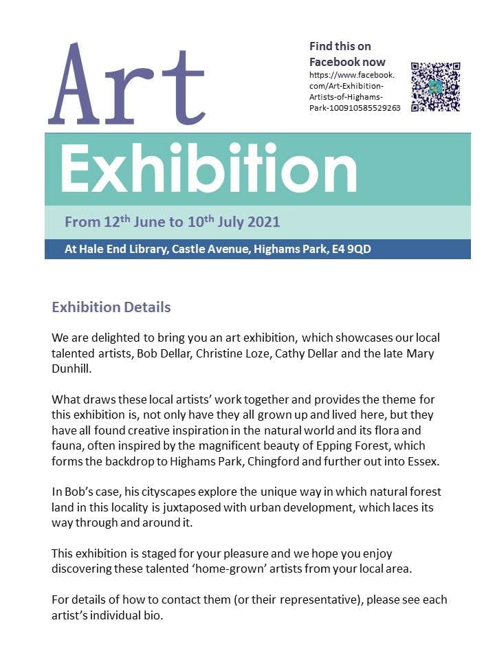 Art Exhibition: Artists of Highams Park at Hale End Library
