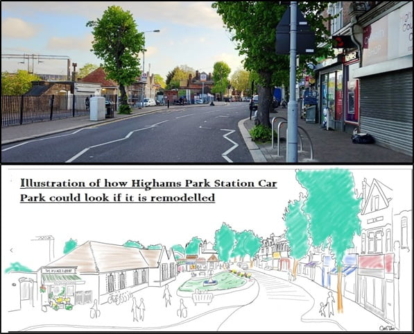 HPPG consultation at French Market on Highams Park District Centre